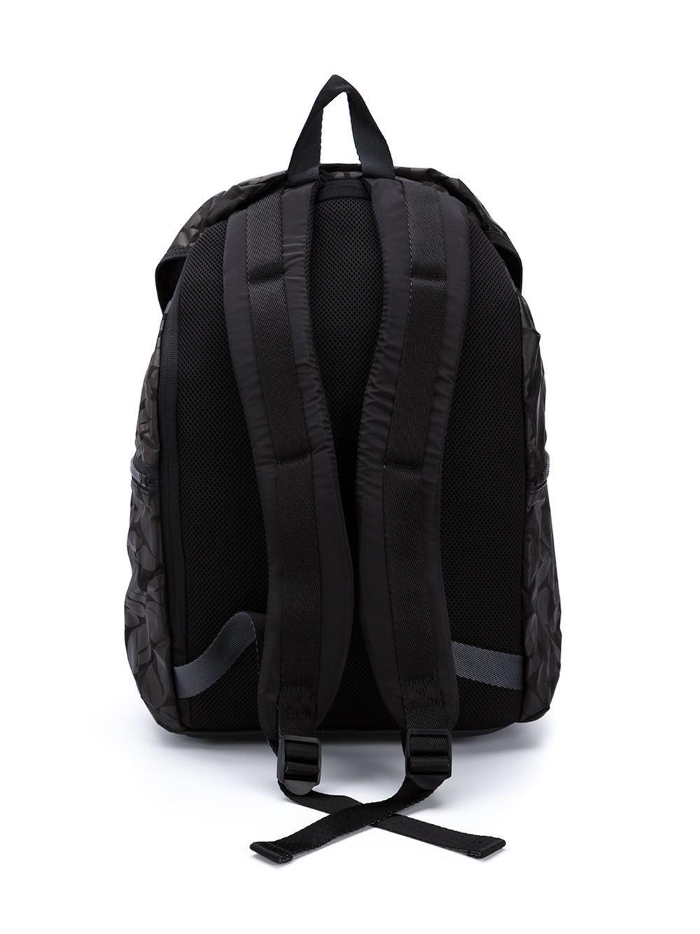 adidas by stella mccartney 39 weekender 39 backpack in gray black lyst. Black Bedroom Furniture Sets. Home Design Ideas