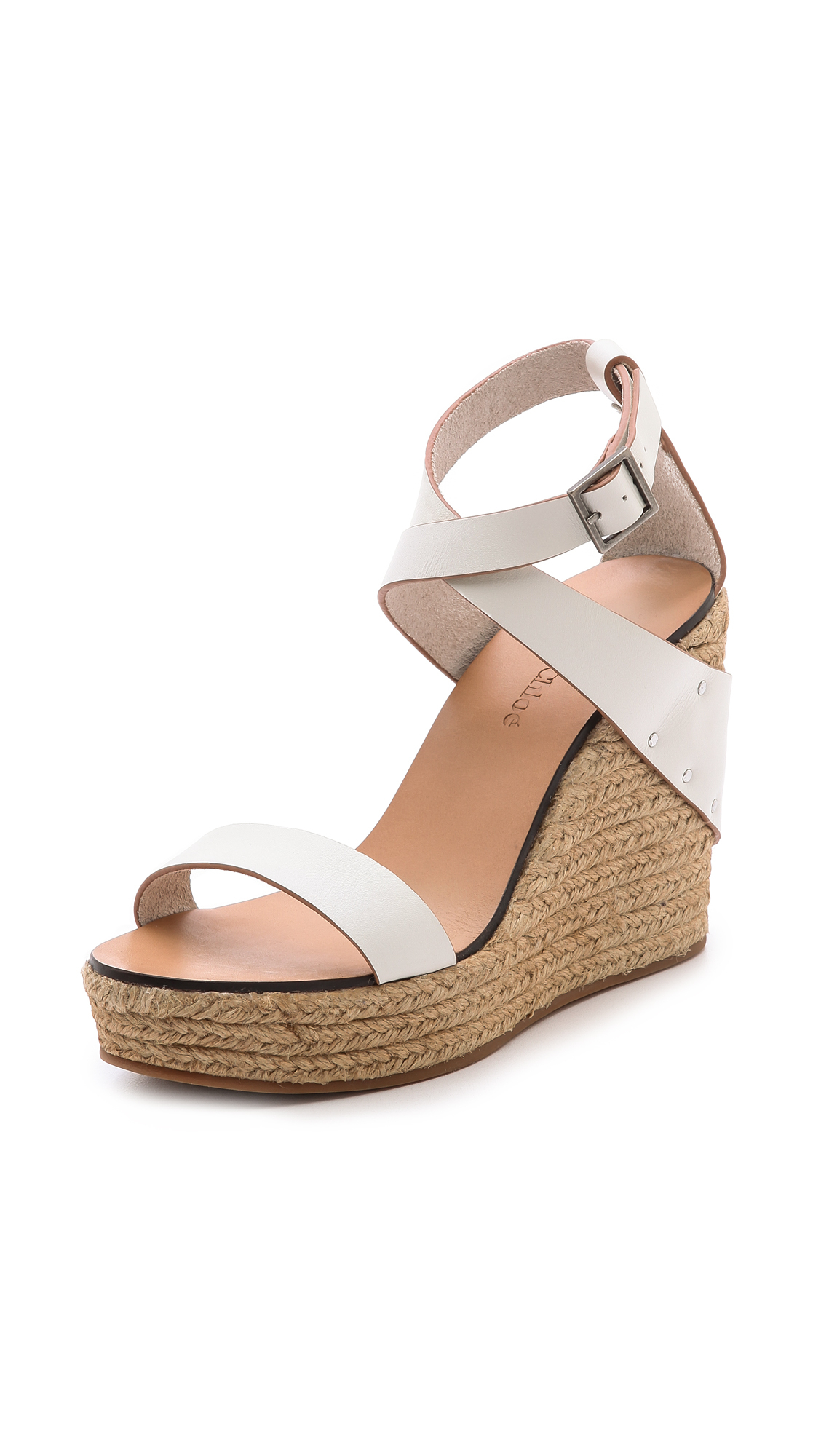 See By Chlo Espadrille Wedges In White  Lyst-3652