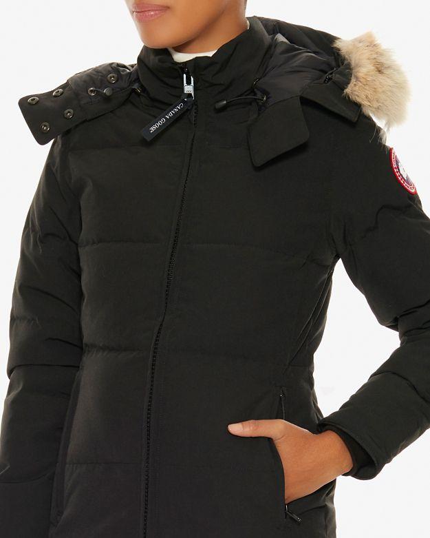 Canada Goose langford parka online store - Canada goose Chelsea Fur Trim Hooded Parka: Black in Black | Lyst