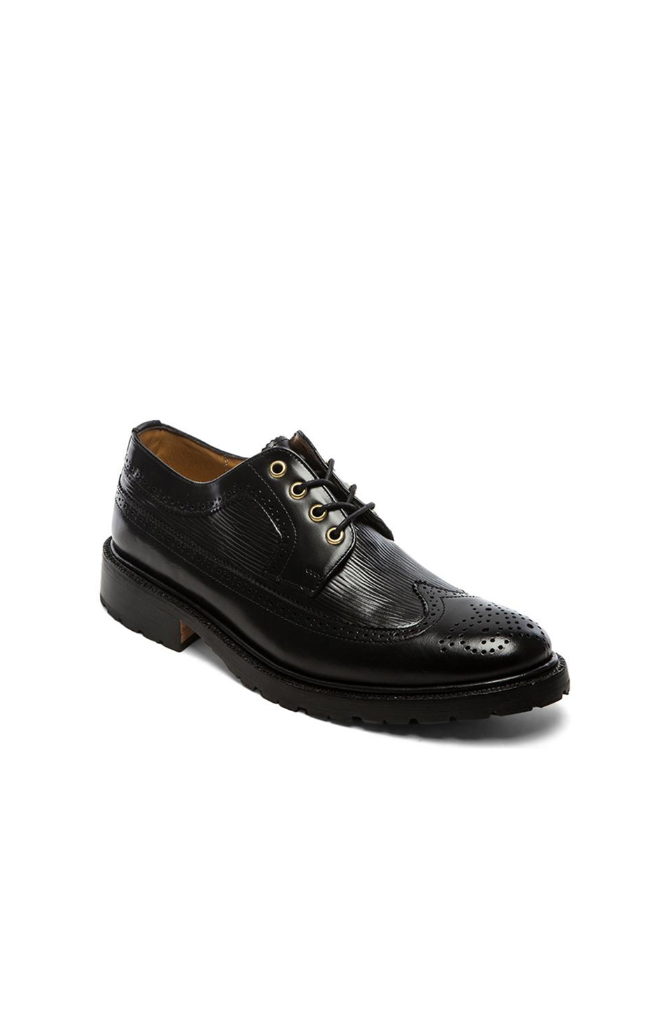 caminando wingtip shoes in black for lyst
