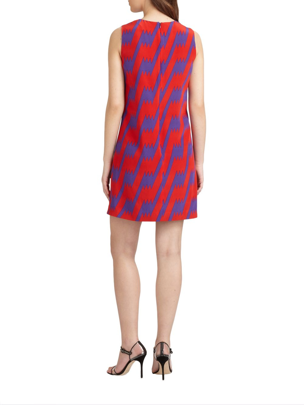 b47a3143ee M Missoni Lightning Bolt Dress in Red - Lyst