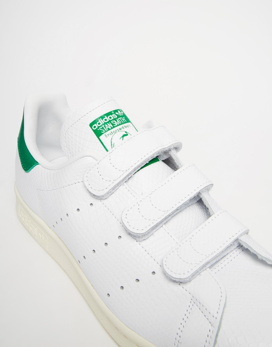 741df434e36f ... coupon for lyst adidas originals stan smith velcro trainers in white  for men 9e712 8f8ac