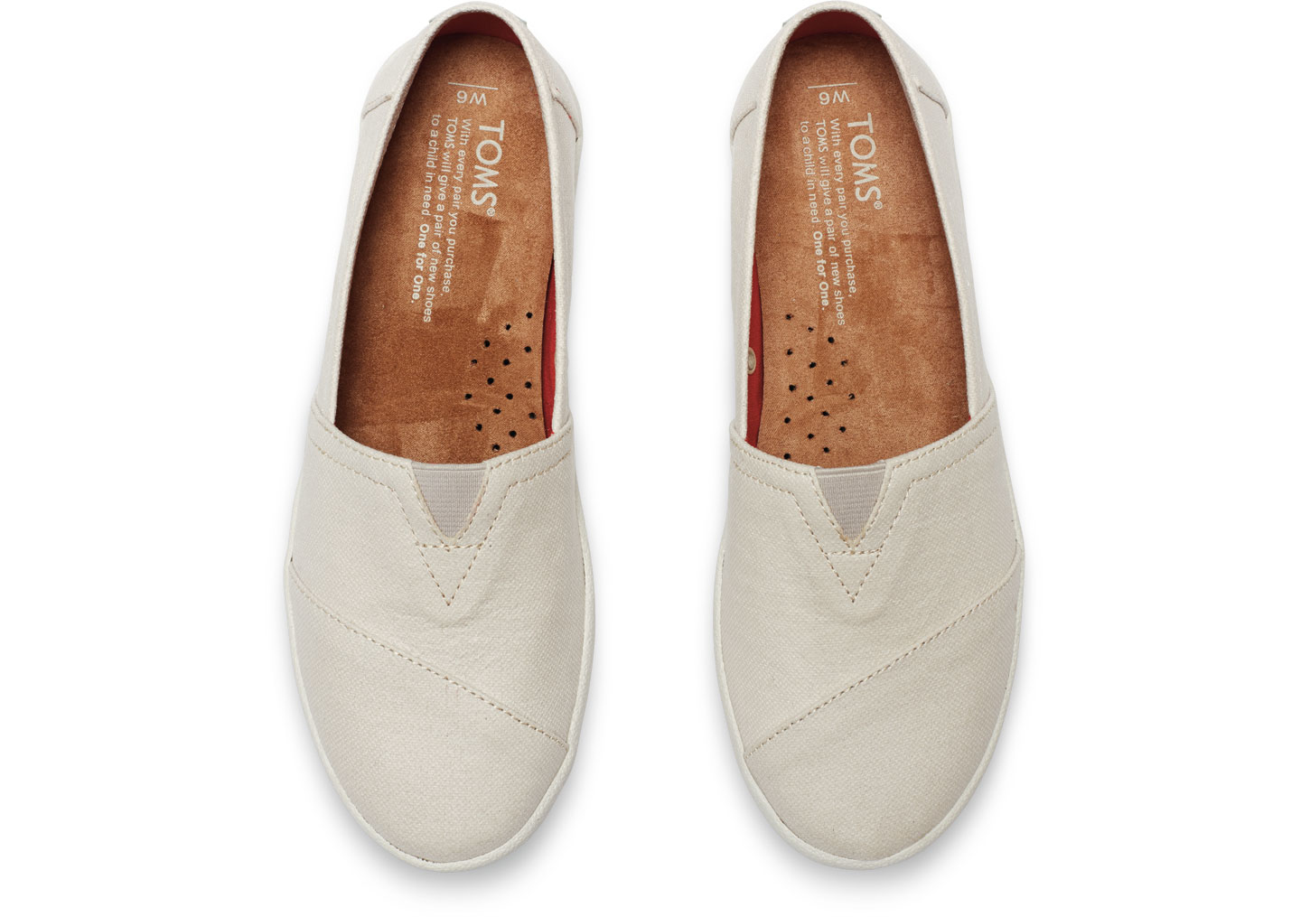 835052d2f5f TOMS Natural Coated Canvas Women S Avalon Slip-Ons in Natural - Lyst