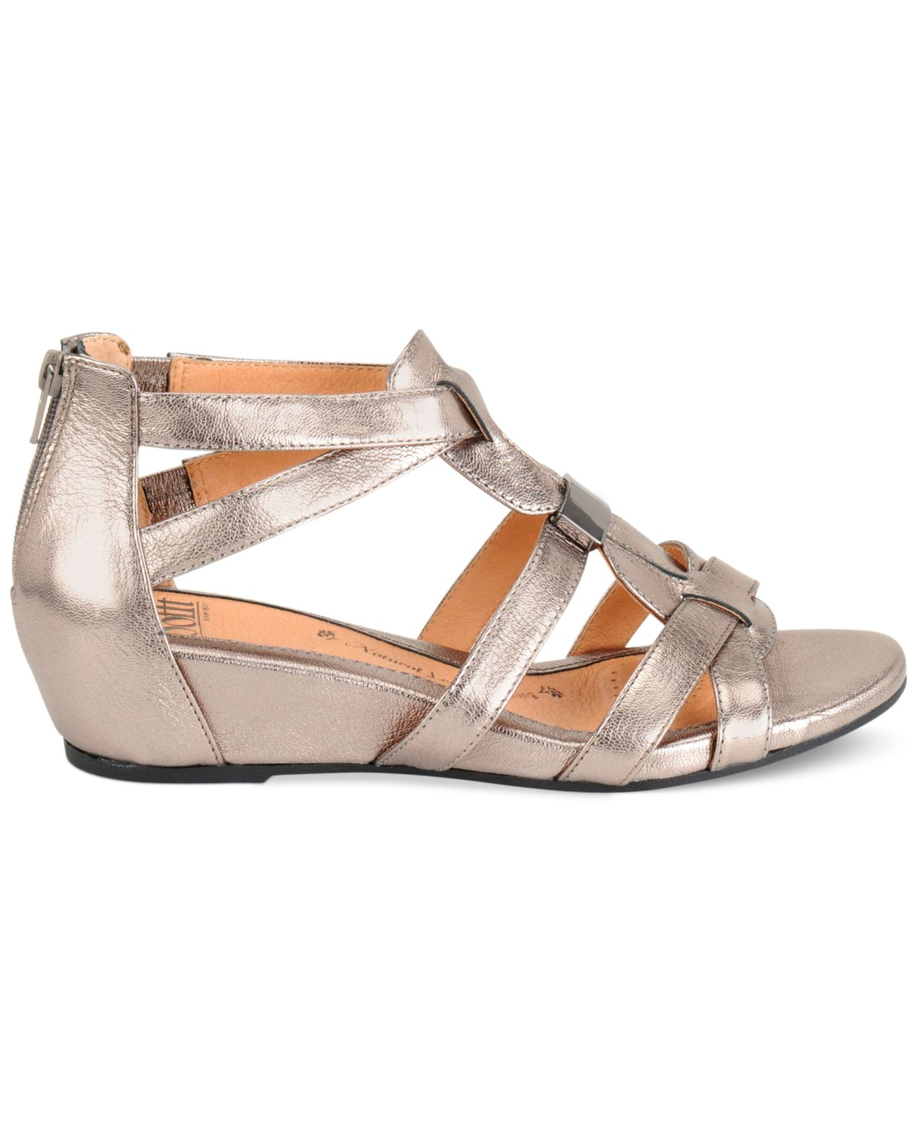 578b273797b Lyst - Söfft Womens Bernia Wedge Sandals in Metallic
