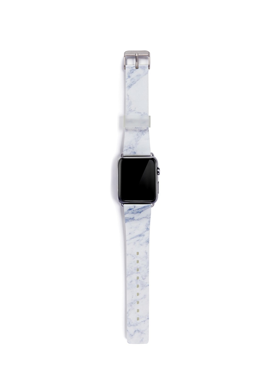 Lyst Casetify White Marble Print 42mm Apple Watch