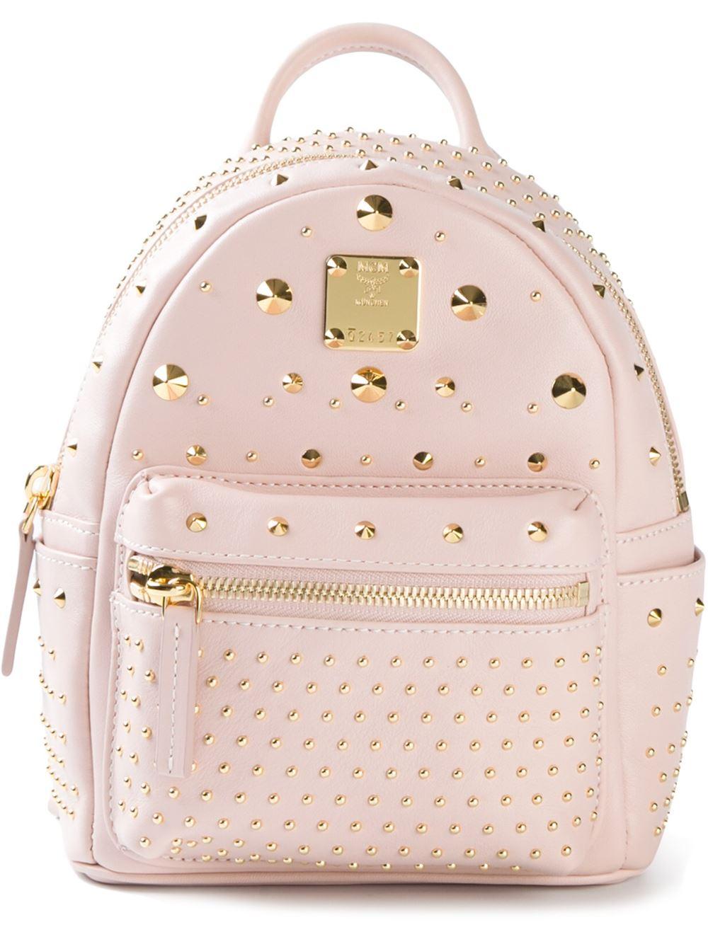 Mcm Mini 'Bebe Boo' Backpack in Pink   Lyst