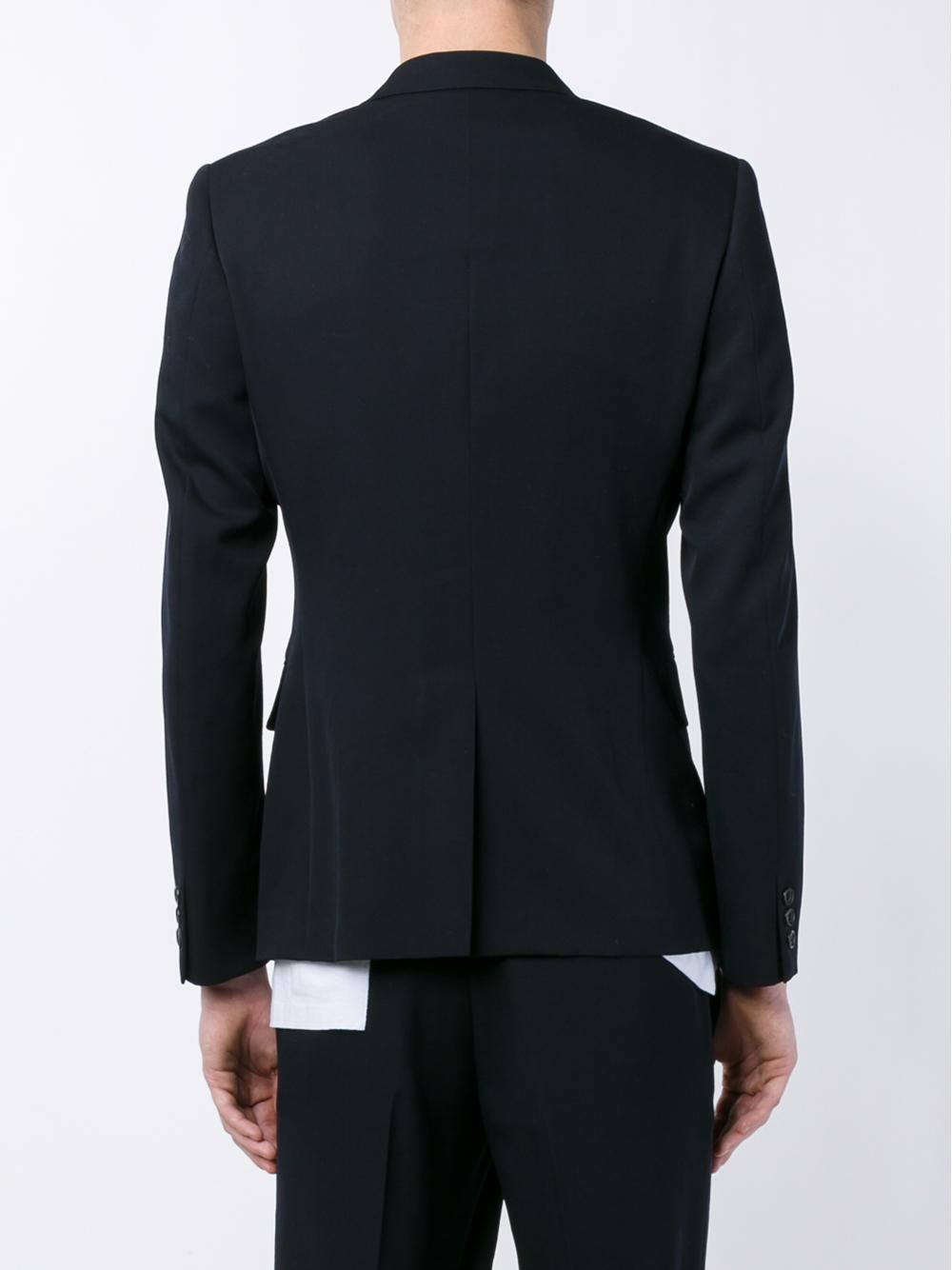 Comme des Garçons Wool Blazer in Navy (Blue) for Men