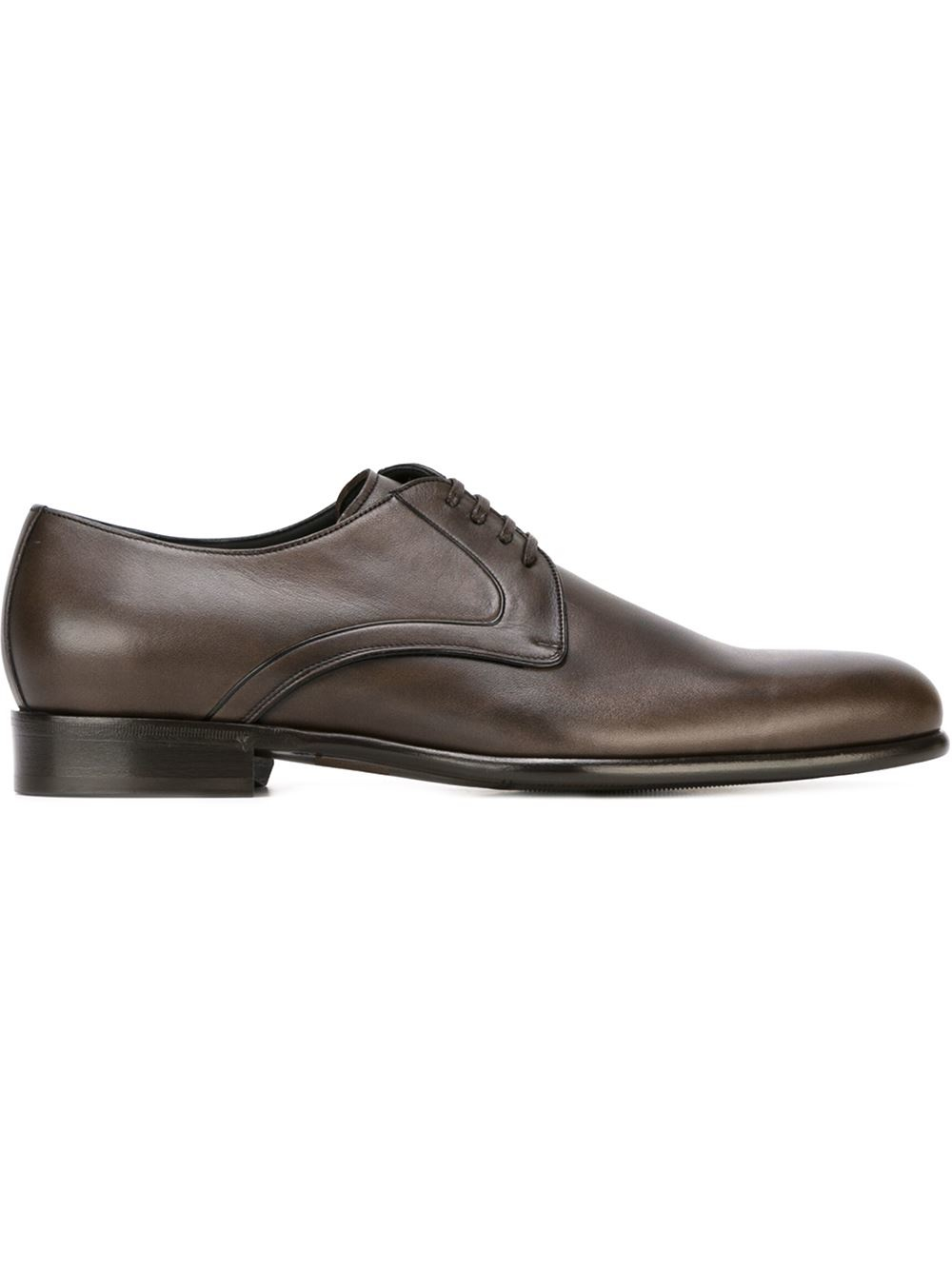 dolce gabbana derby shoes in brown for brown
