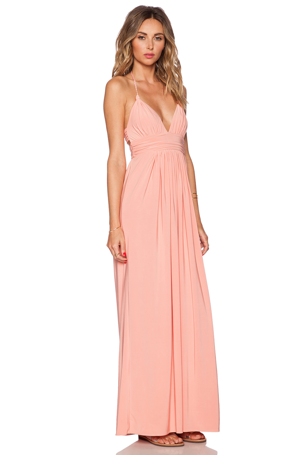 T-bags X Back Maxi Dress in Pink  Lyst