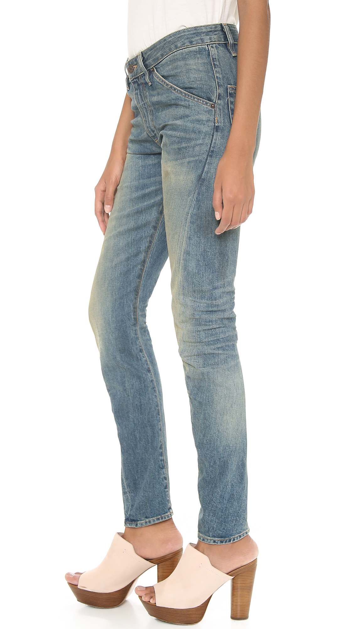 6397 Twisted Seam Jeans in Dirty Faded (Blue)