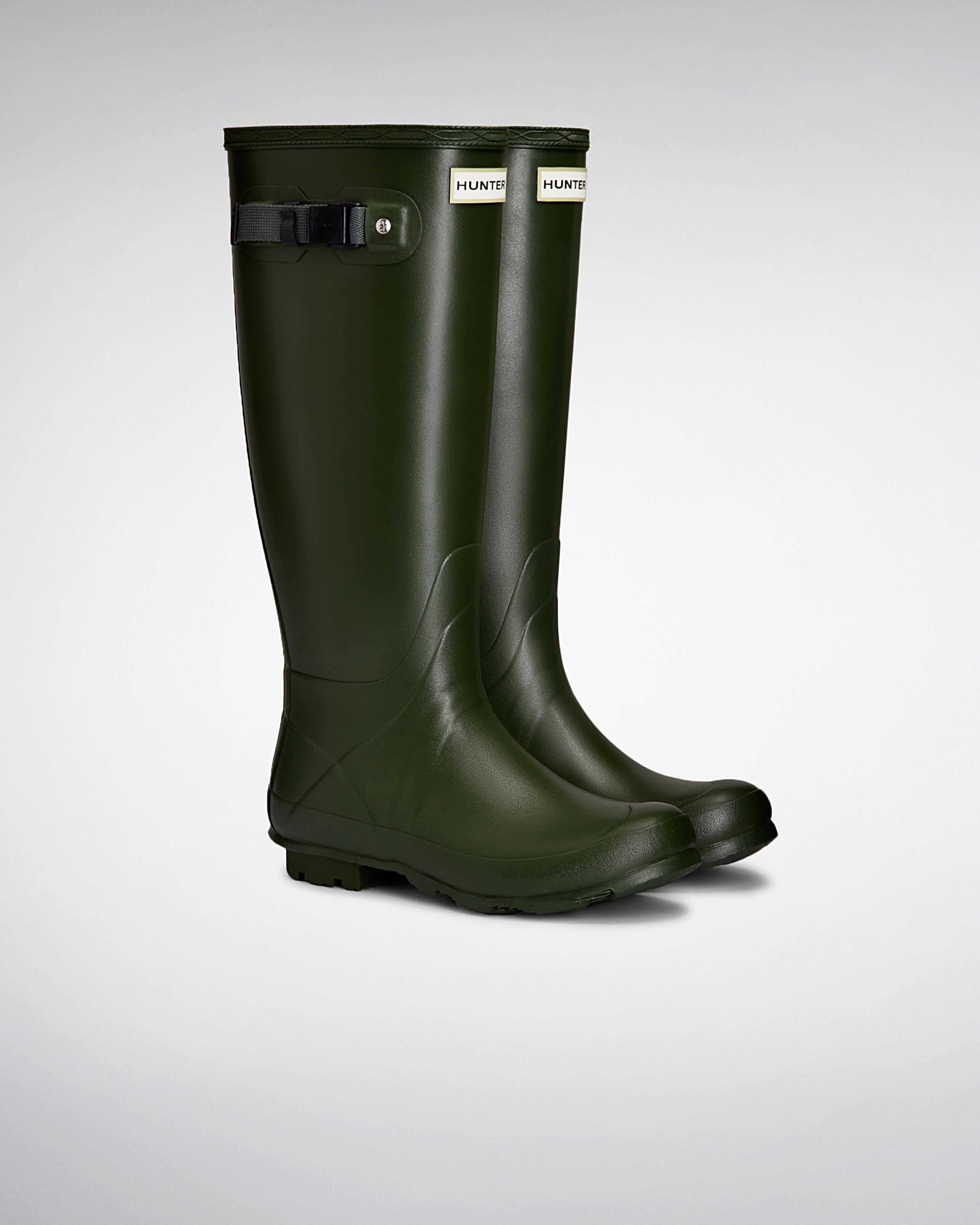 Hunter Womens Norris Field Neoprene Lined Rain Boots In