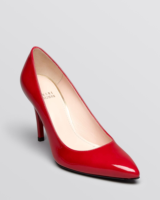 459e86647d7 Lyst - Stuart Weitzman Pumps Power High Heel Raspberry Aniline in Red