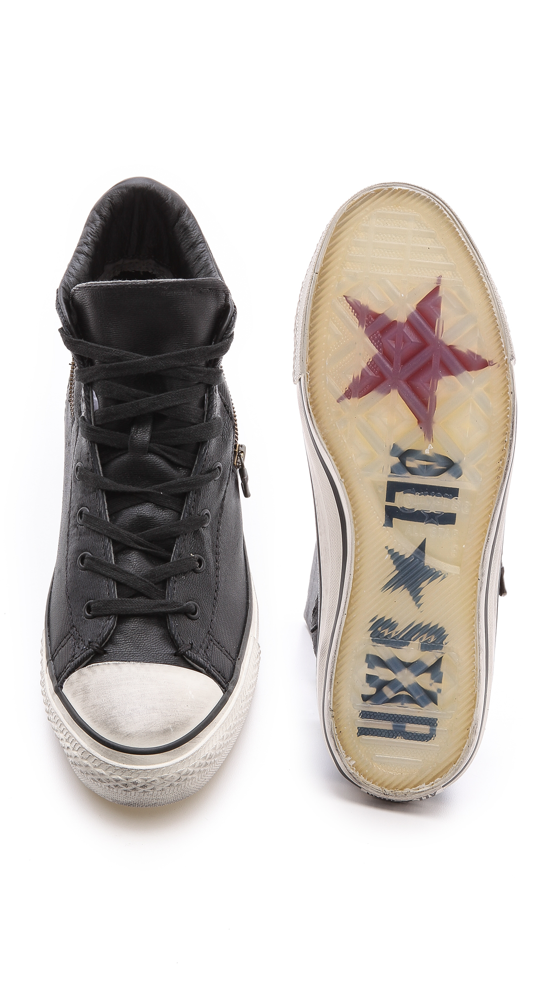 df6879f849fd ... cheapest lyst converse jv all star zip sneakers in black for men 94866  6fbbd