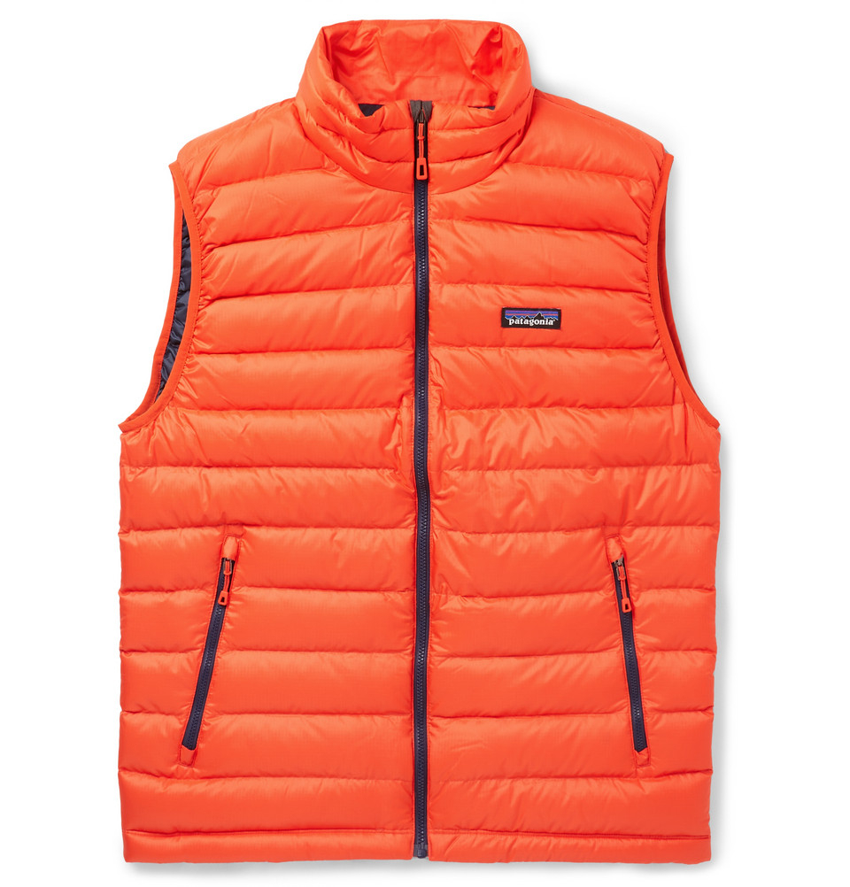 Patagonia Down Quilted Dwr Recycled Lightweight Gilet In