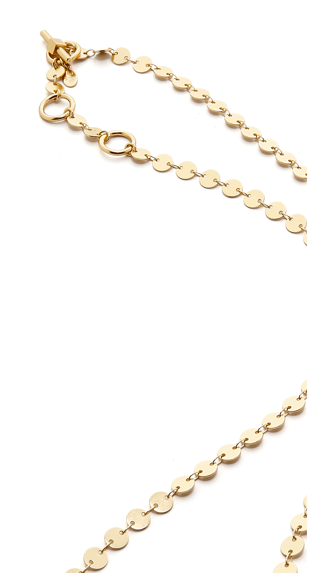Phyllis + Rosie The Linett Necklace - Gold in Metallic
