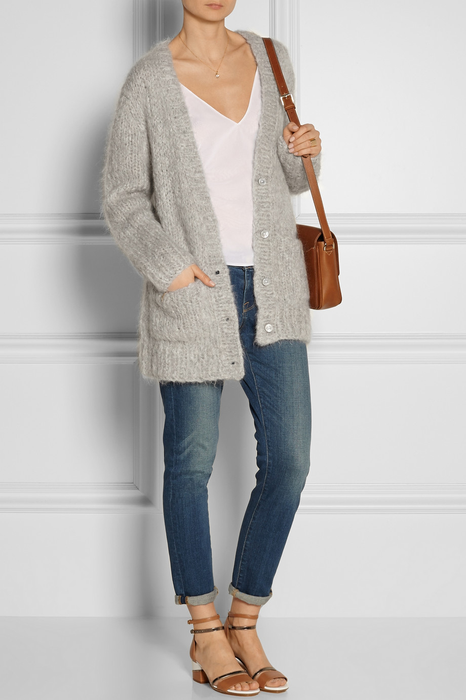 Michael Kors Chunkyknit Mohair Wool And Cashmereblend