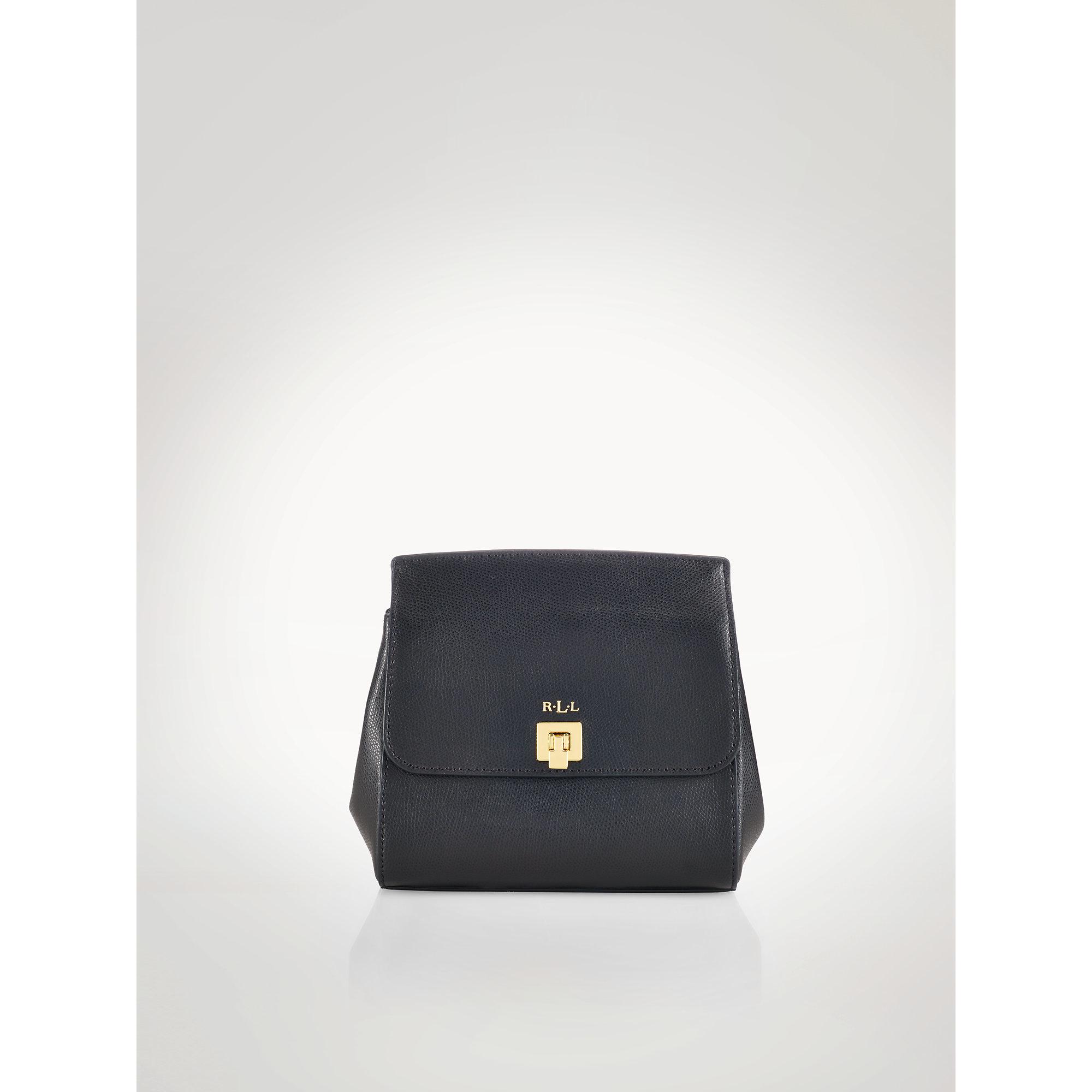 Lyst - Ralph Lauren Whitby Leather Cross-body Bag in Black c15d7a92de