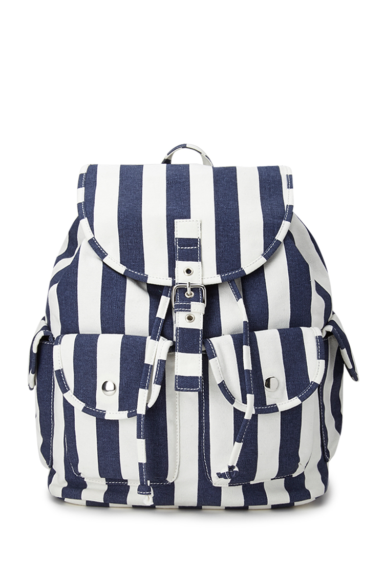 66579be2023e Forever 21 Cool Girl Striped Backpack in Blue (Navy white)