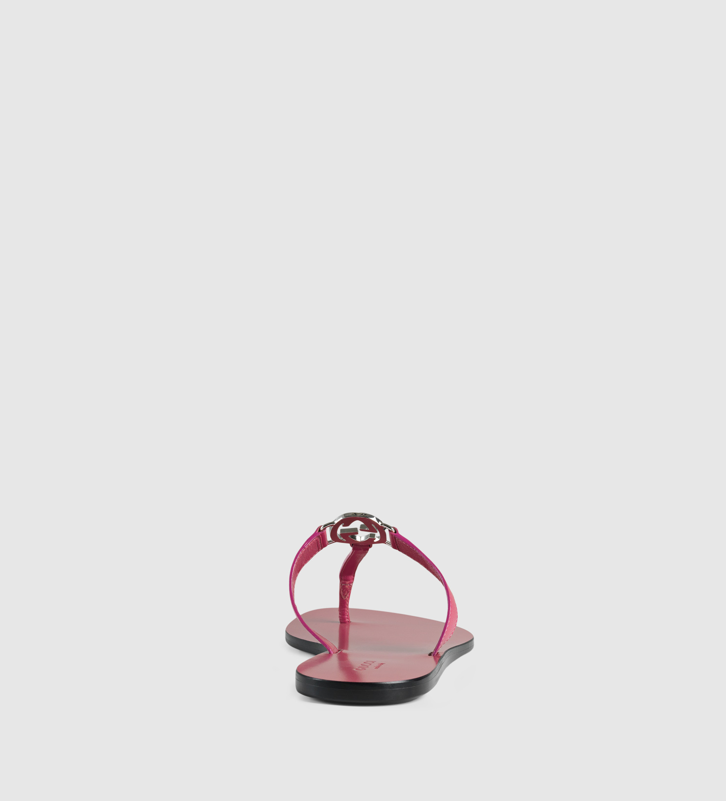 Gucci Gg Thong Leather Sandal In Pink Lyst