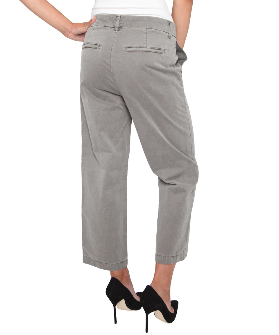 j brand khaki cropped chinos in for lyst
