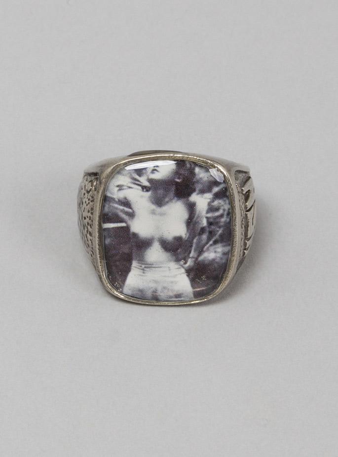 George Frost Usn Sweetheart Ring White Bronze For Men Lyst