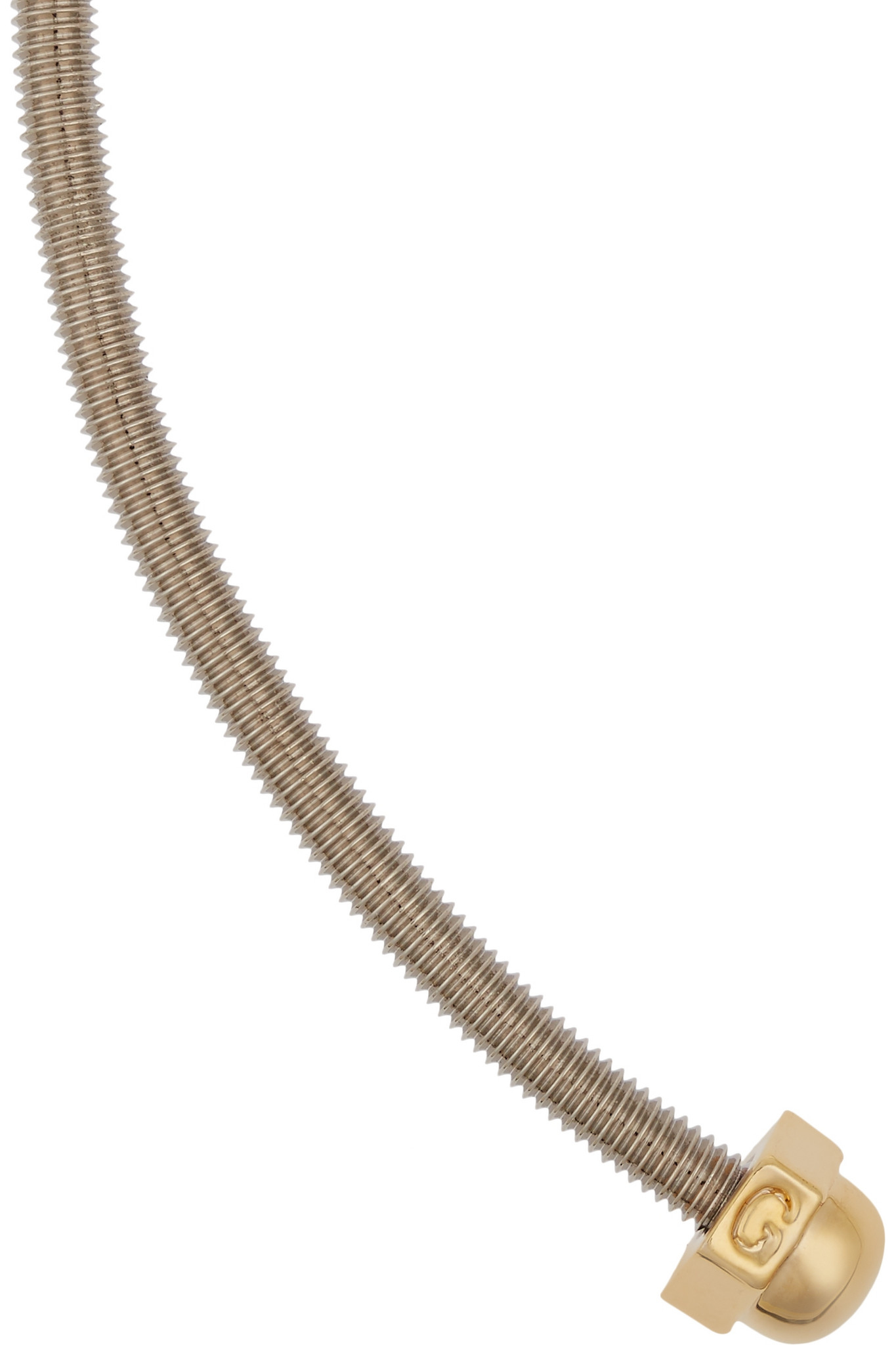 Giles & Brother Rhodium And Gold-plated Necklace in Silver (Metallic)