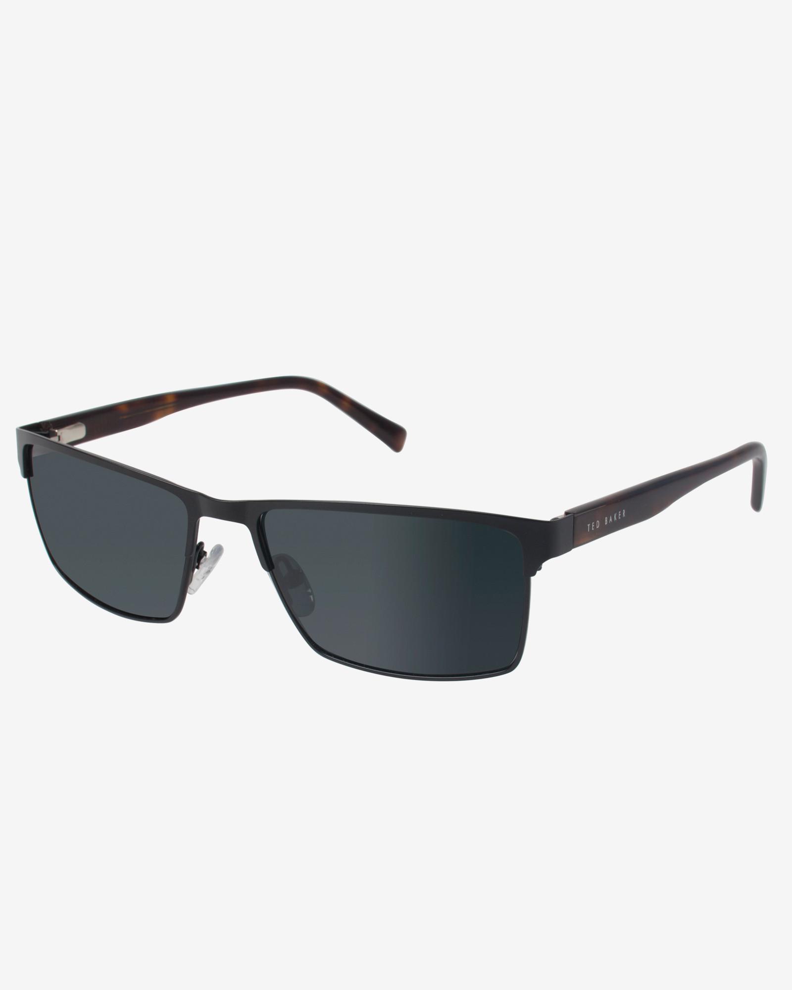 Ted Baker Rectangular Frame Sunglasses in Black for Men Lyst