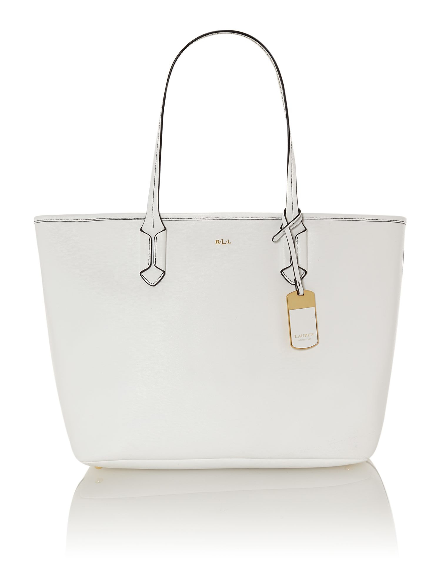 de65cfdf597c Lauren By Ralph Lauren Tate White Large Tote Bag in White