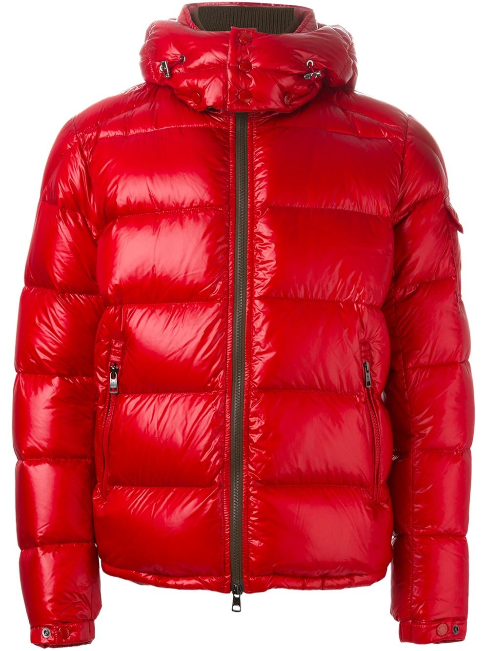 moncler 39 thoule 39 padded jacket in red for men lyst. Black Bedroom Furniture Sets. Home Design Ideas