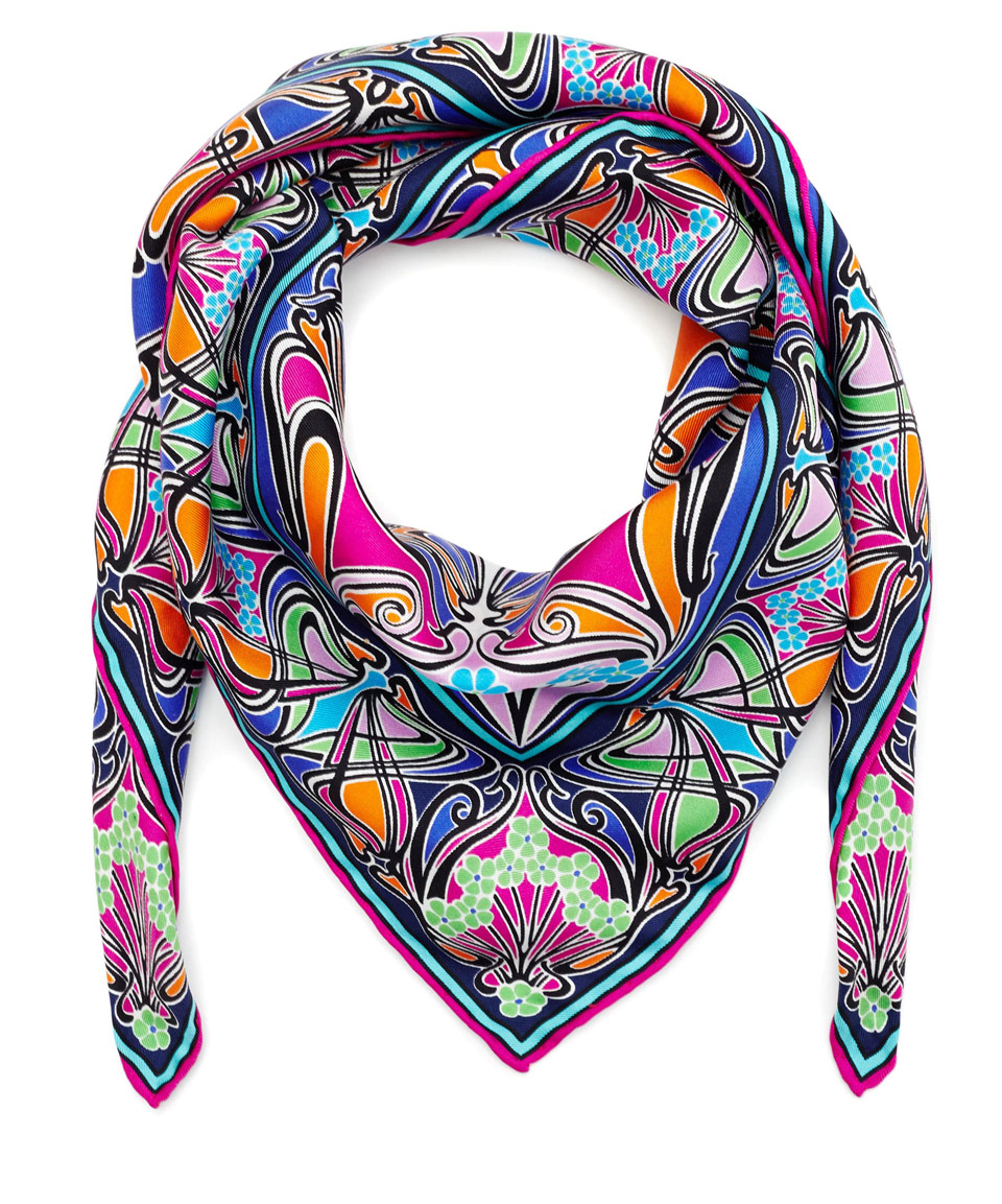 liberty pink new ianthe silk scarf in pink lyst