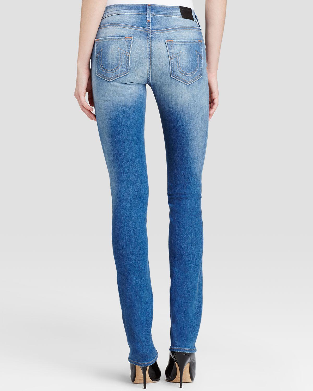 True Religion Jeans - Cora Mid Rise Straight In Edenhurst Ave in Blue
