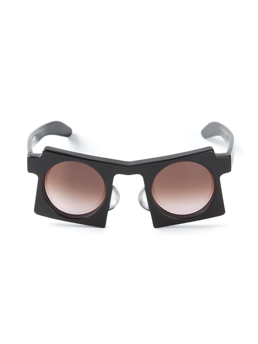 Lyst Kuboraum Geometric Sunglasses In Black For Men