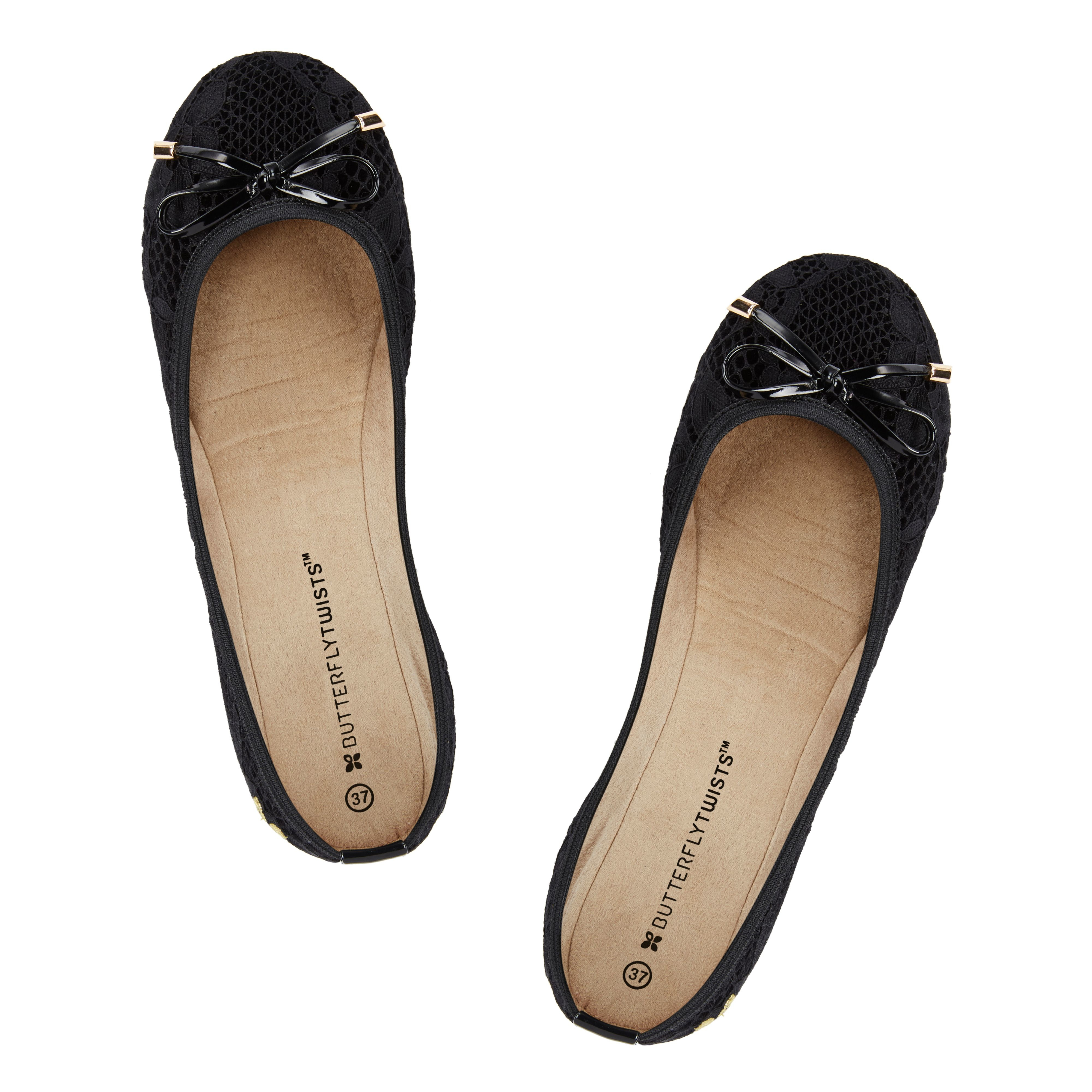 butterfly twists ballerina shoe in black lyst. Black Bedroom Furniture Sets. Home Design Ideas