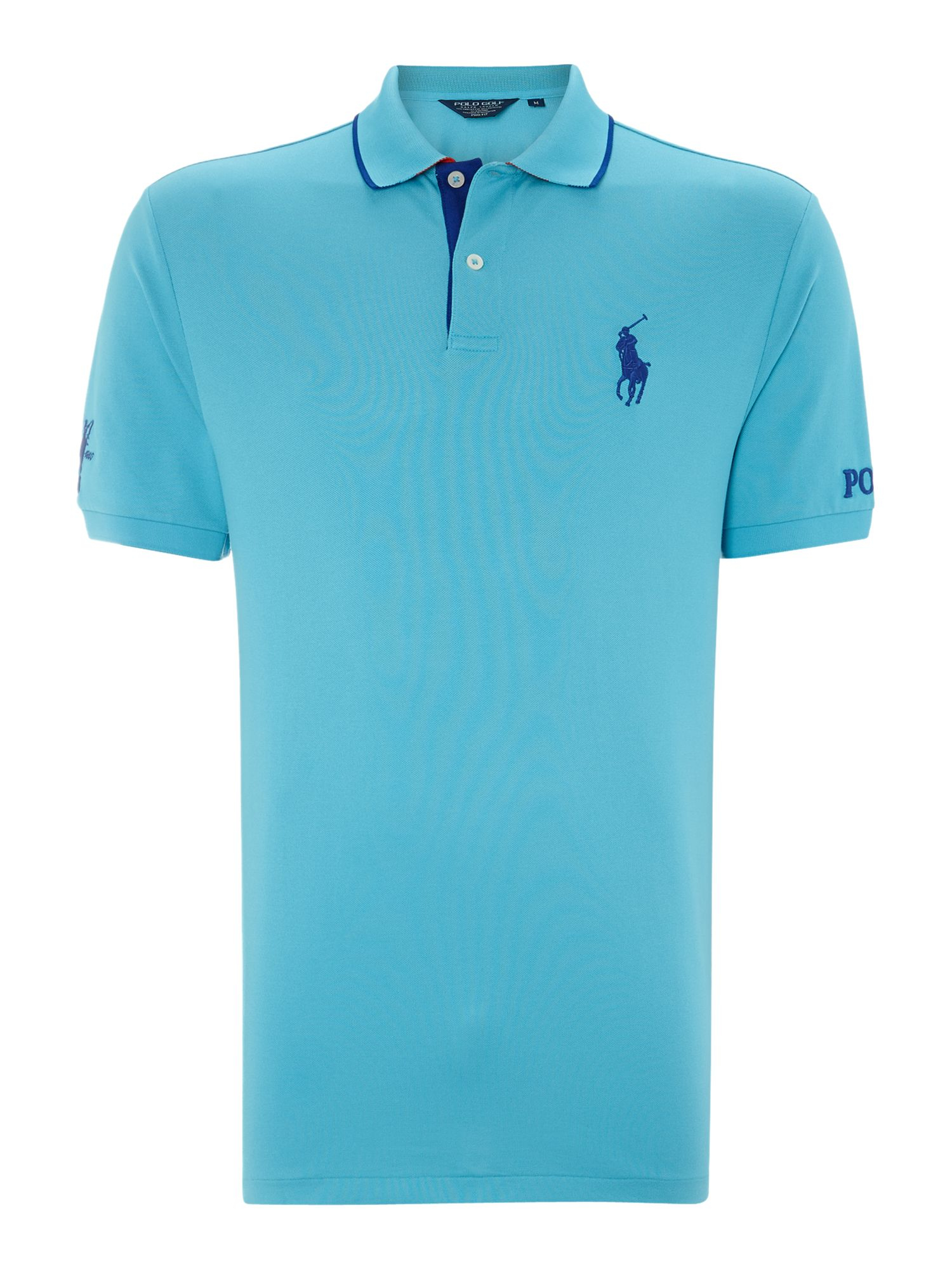 Ralph lauren golf polo golf the open polo shirt in blue for Polo golf shirts for men