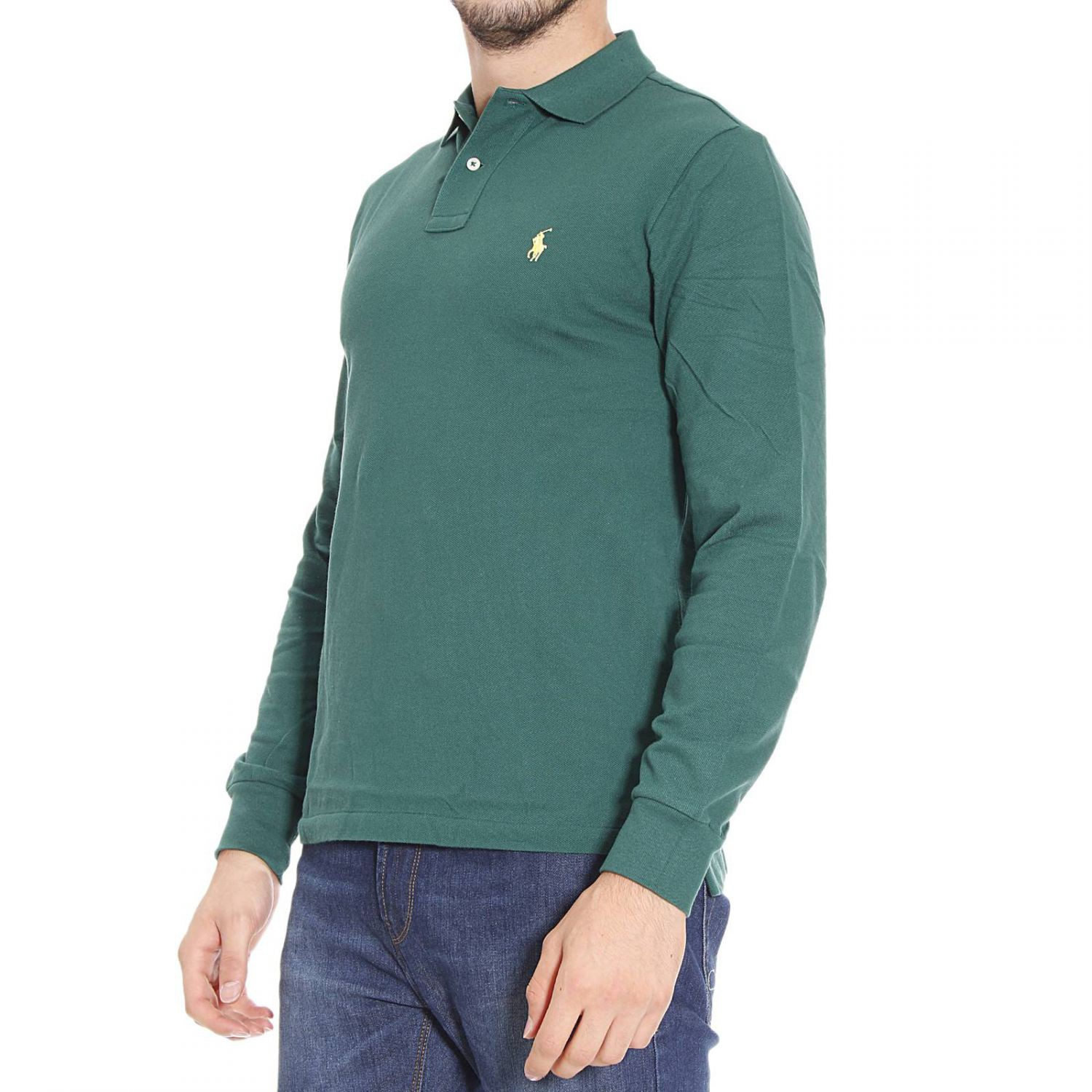 polo ralph lauren t shirt in green for men forest green. Black Bedroom Furniture Sets. Home Design Ideas