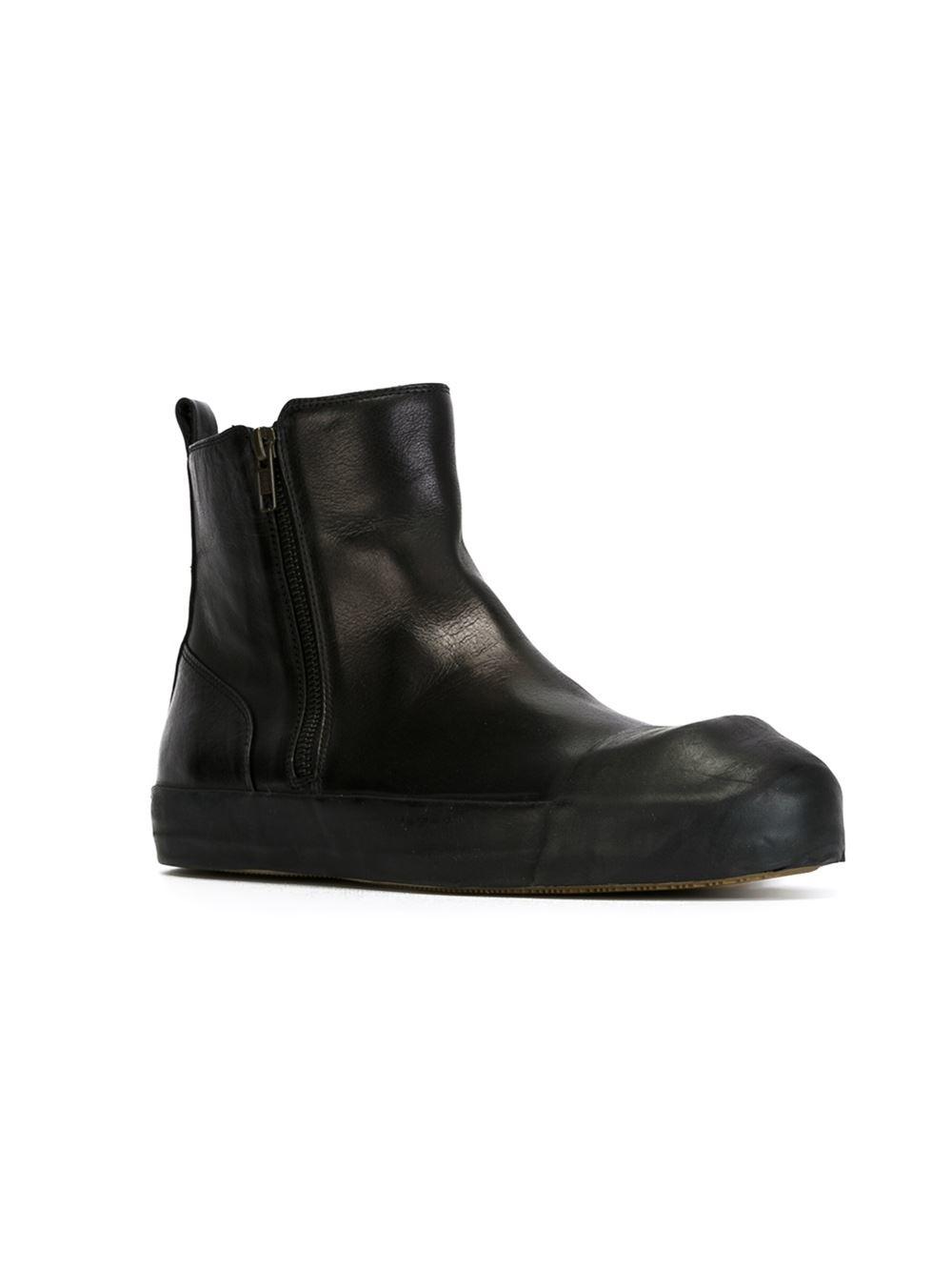 ANN DEMEULEMEESTERLeather Side Zip Boots nEd6jKnx1
