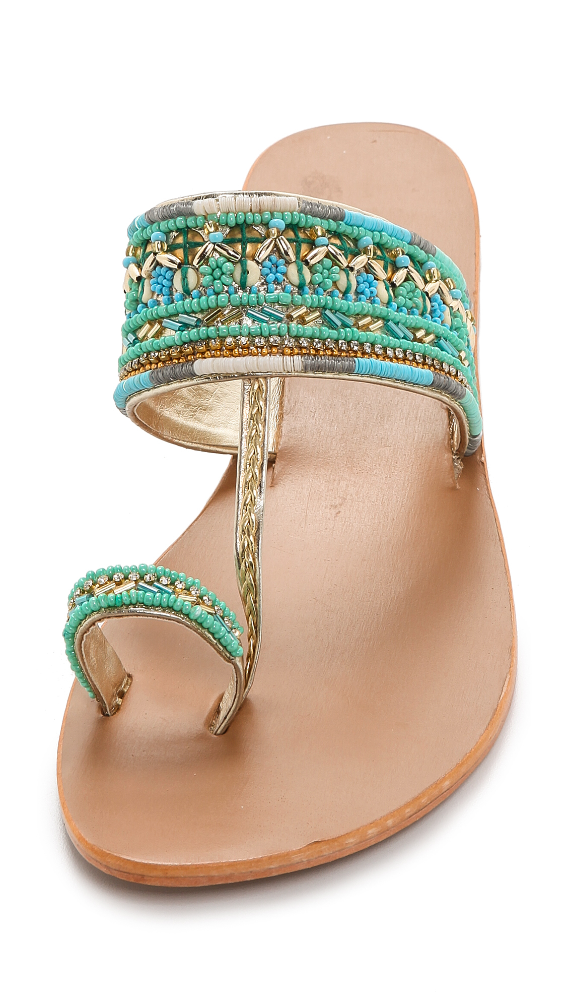Star Mela Sabri Beaded Sandals - Turquoise In Blue - Lyst-1276