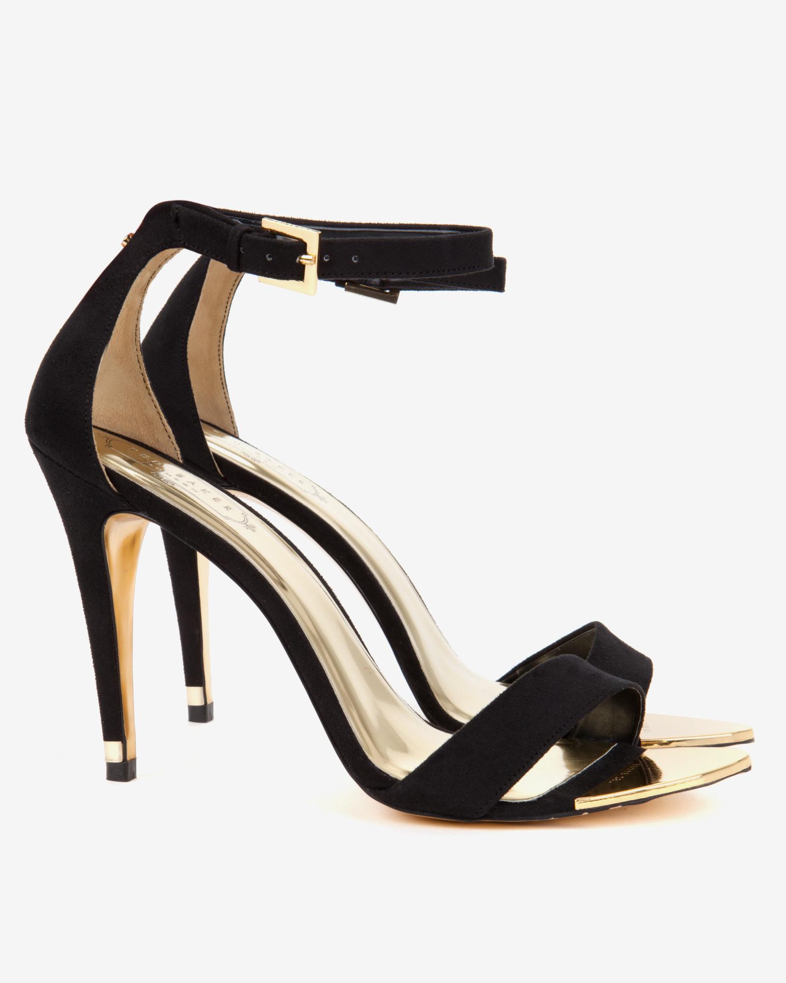 7801da0574865 Ted Baker Ankle Strap Sandals in Black - Lyst