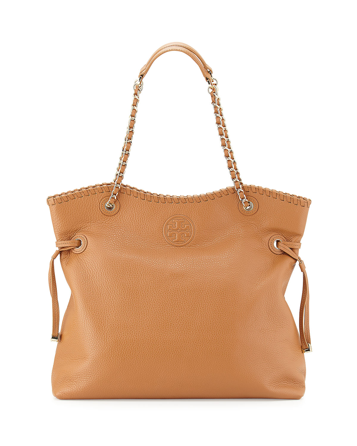 burch marion leather book bag in brown lyst