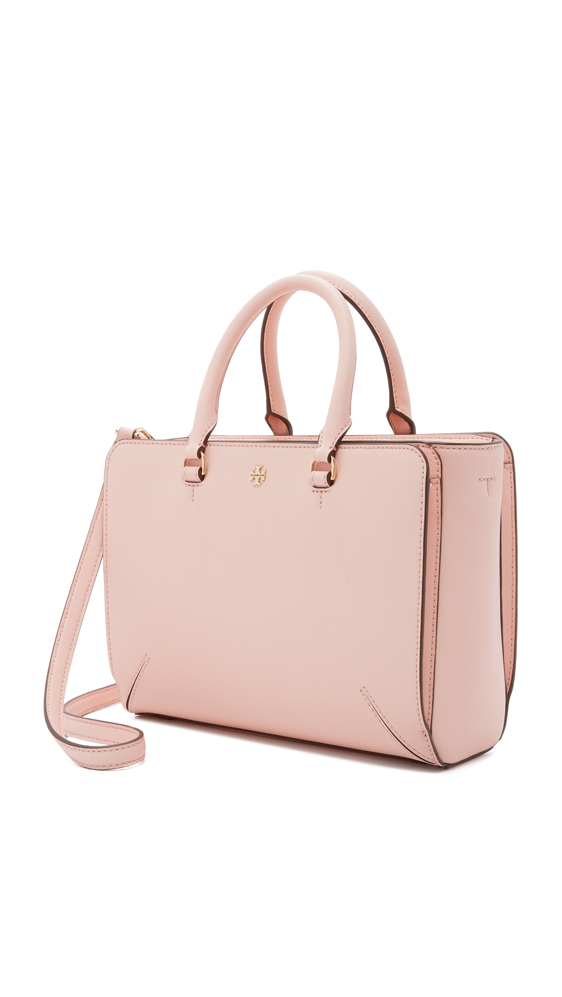 e36951eb7a52 Lyst - Tory Burch Robinson Small Zip Tote in Pink
