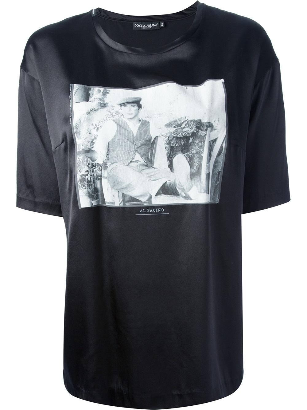 dolce gabbana al pacino t shirt in black lyst. Black Bedroom Furniture Sets. Home Design Ideas