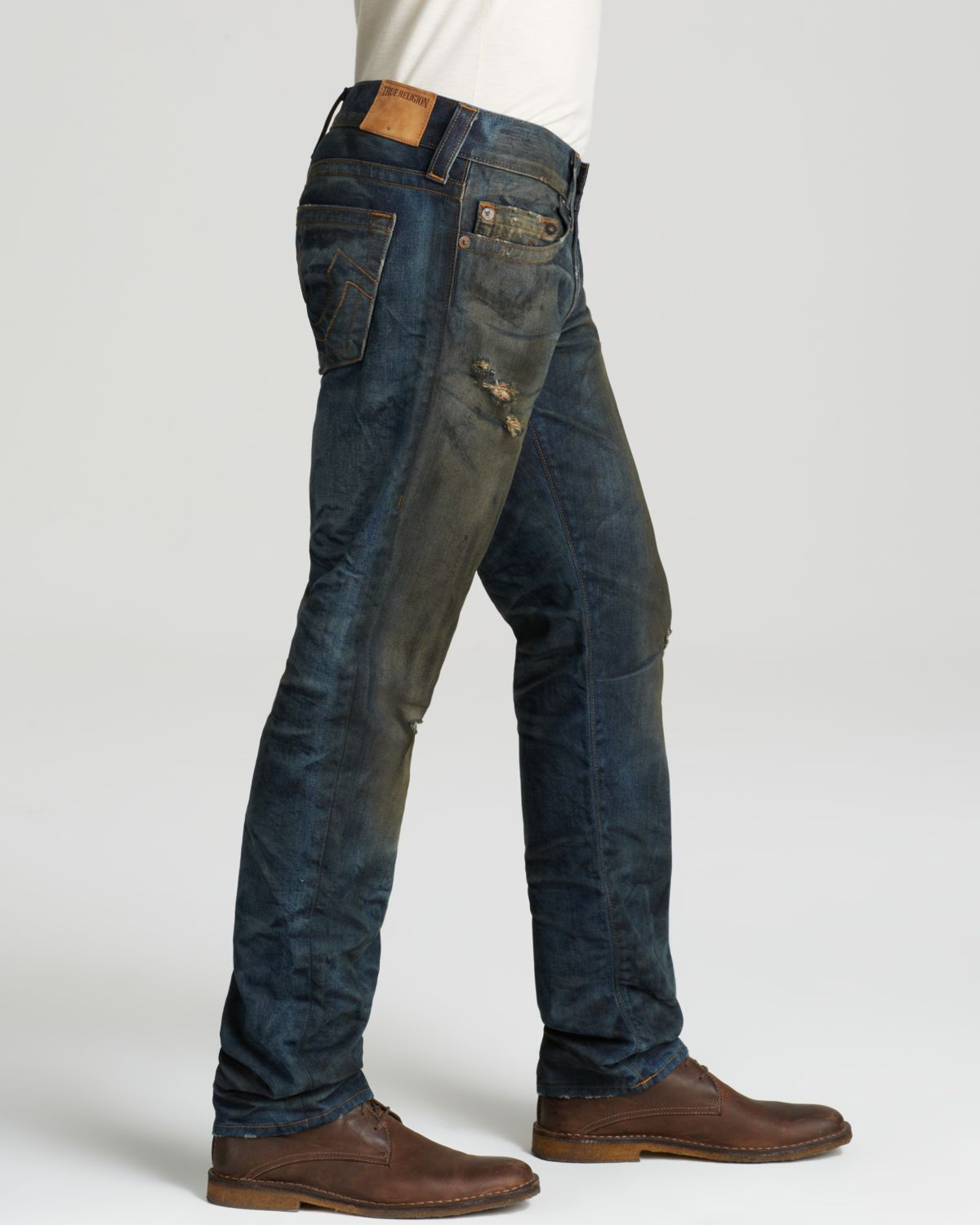 Lyst - True Religion Jeans - Geno Straight Fit In Rough ...