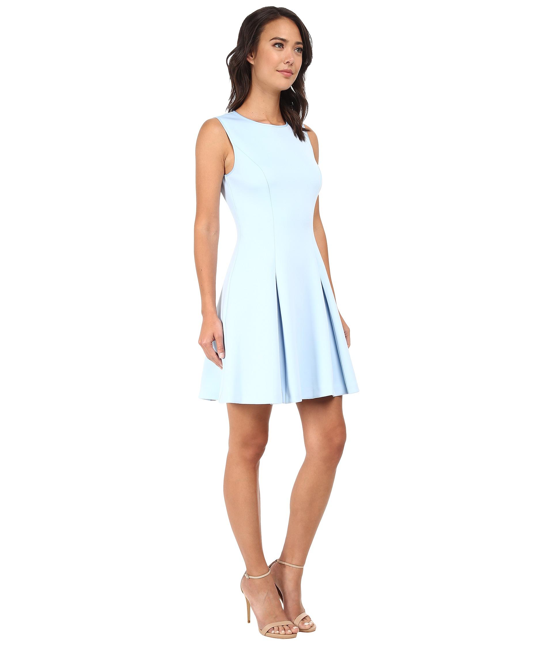 Lyst Ted Baker Tandace Sleeveless Neoprene Skater Dress in Blue