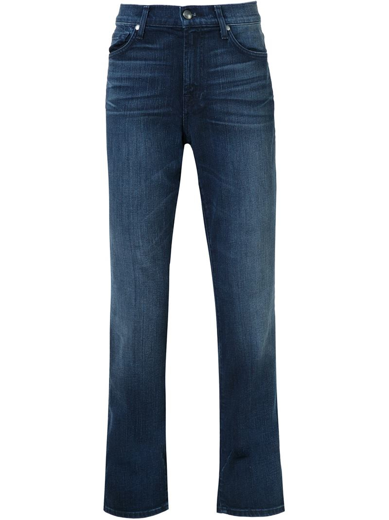 7 for all mankind the slimmy jeans in blue lyst. Black Bedroom Furniture Sets. Home Design Ideas