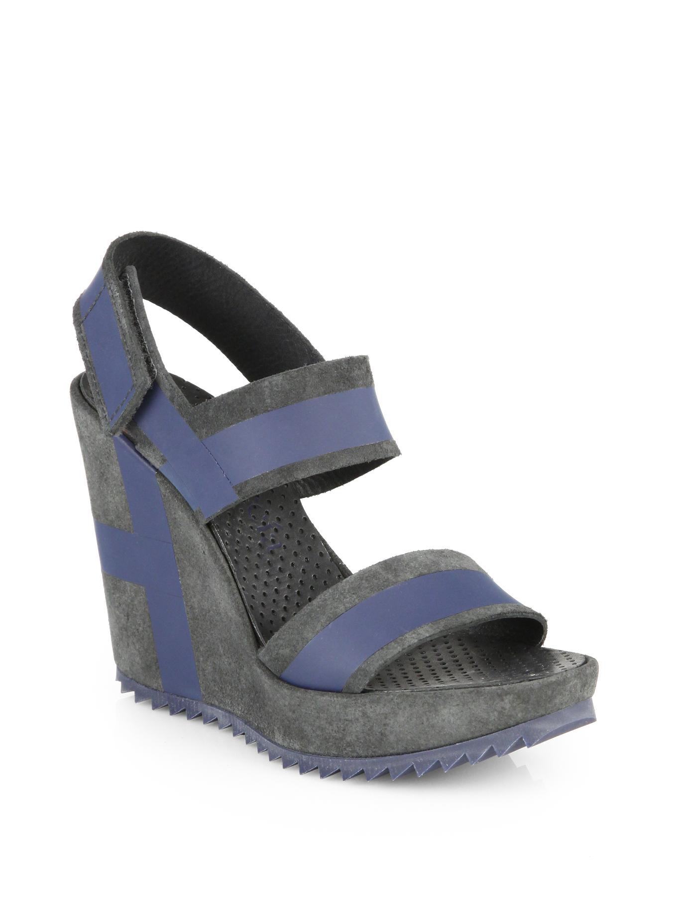 Pedro Garcia Striped Suede Sandals shop sale online 6rjJ48