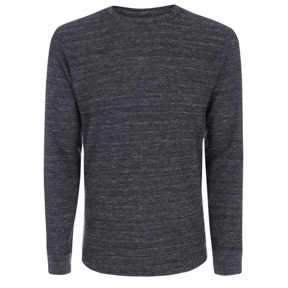 Paul smith Men's Charcoal Grey Melange Waffle-knit Long-sleeve T ...