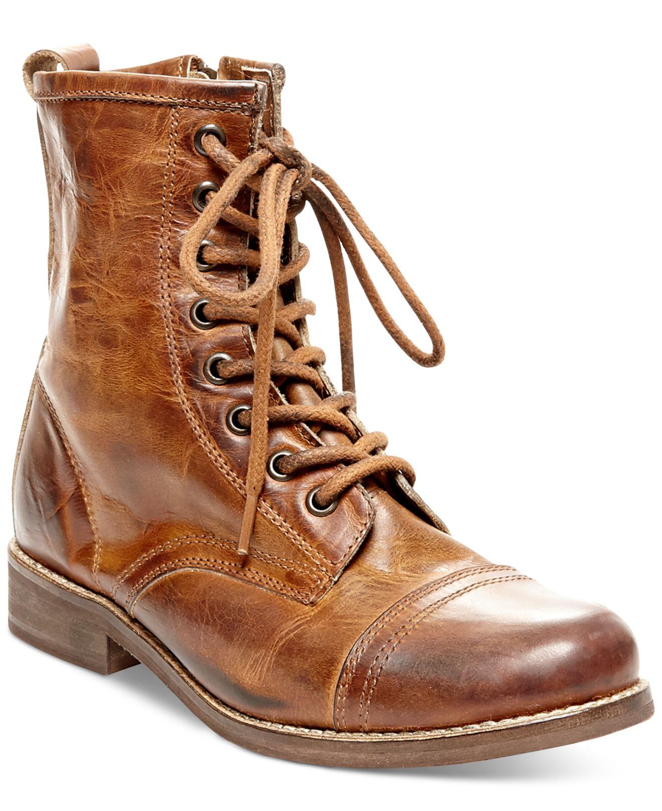 556793d99c8 Steve Madden Brown Charrie Combat Booties
