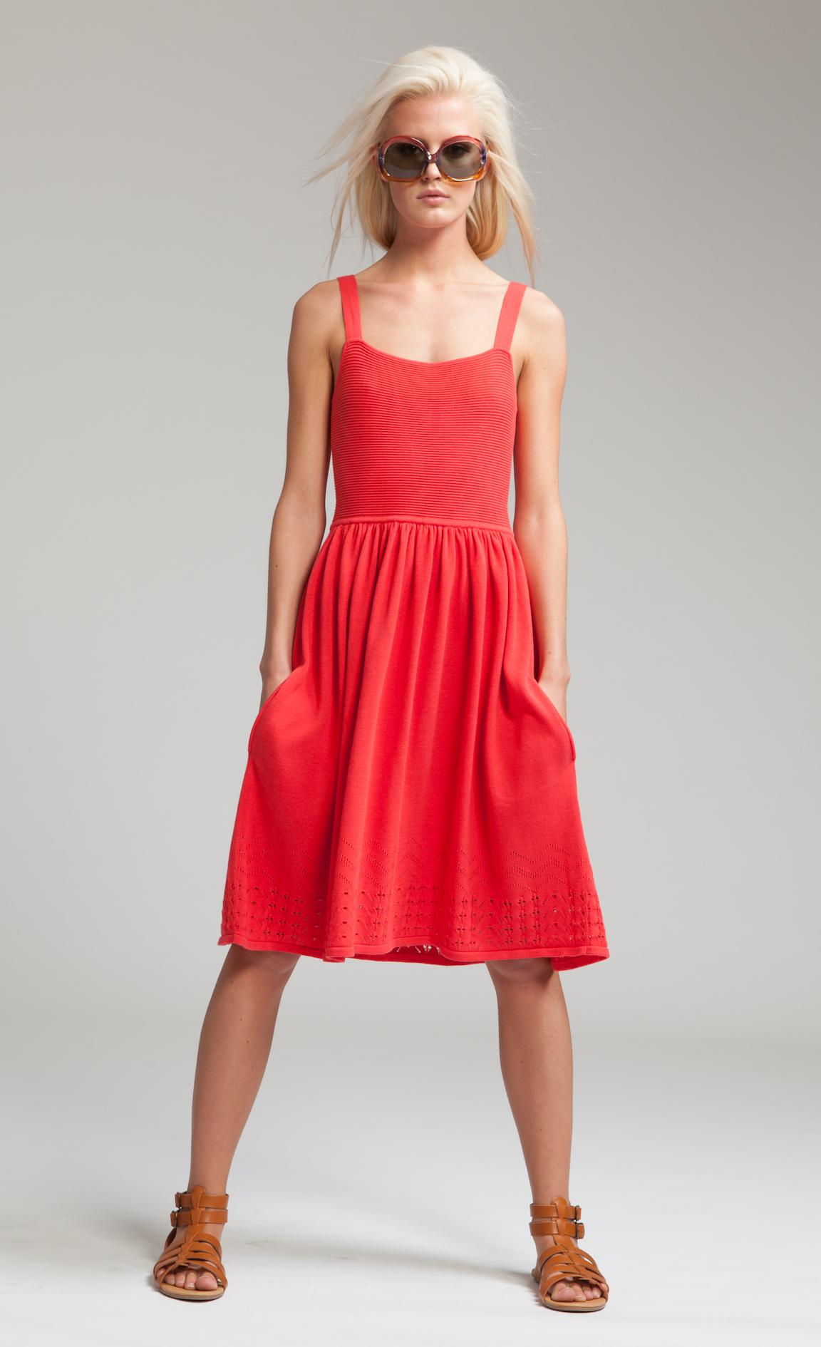 Temperley London Ray Strappy Dress In Poppy Red Lyst
