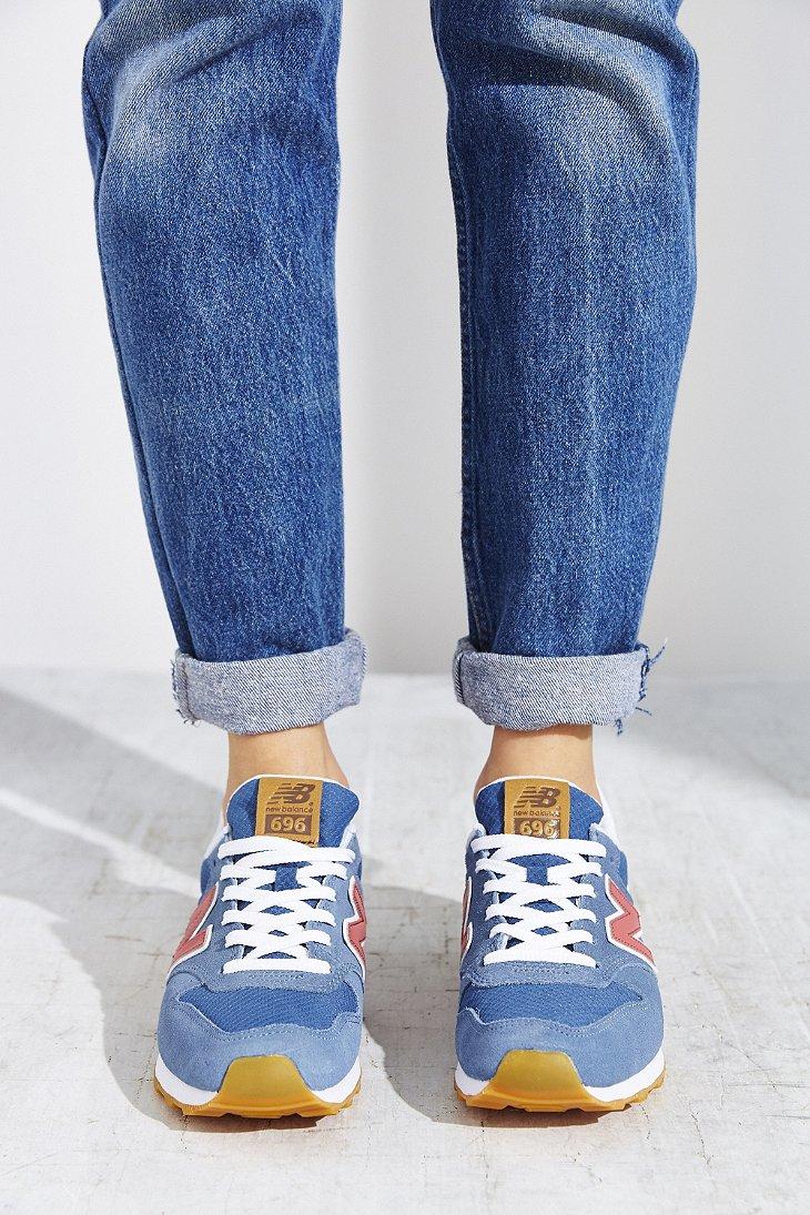 buy popular 63ff9 ccffc New Balance Blue 696 Running Sneaker