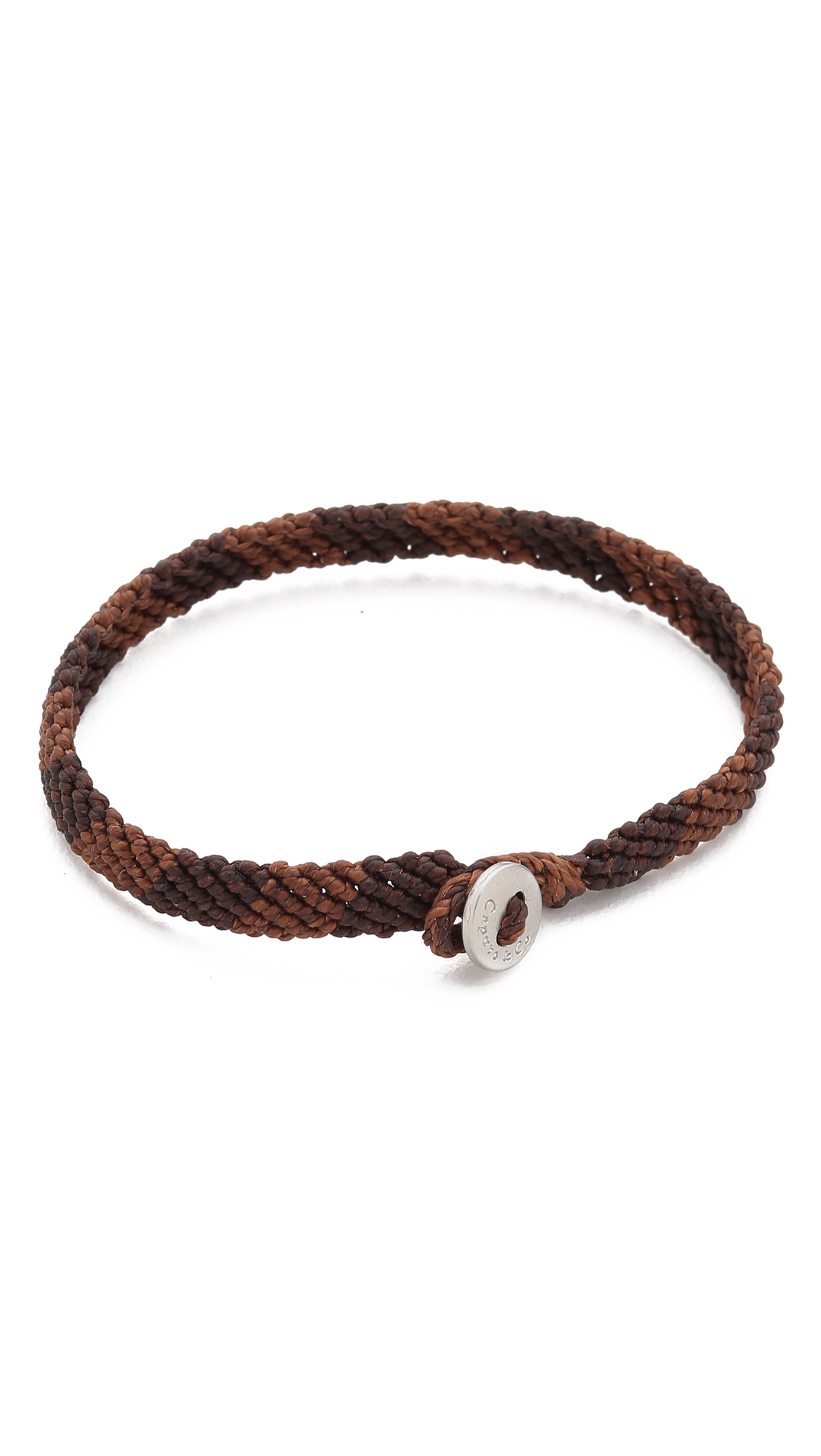 Caputo Amp Co Hand Knotted Rugby Bracelet In Brown For Men